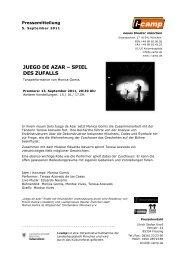 JUEGO DE AZAR – SPIEL DES ZUFALLS - Neues Theater München