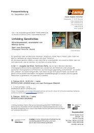 Unfolding Sensitivities - Neues Theater München