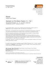 Escort - Neues Theater München