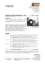 Pressetext - Neues Theater München