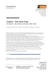 Imagine - Das blaue Auge - Neues Theater München