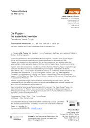 Die Puppe - the assembled woman - Neues Theater München