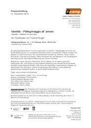 Identità – Pellegrinaggio all' amore - Neues Theater München