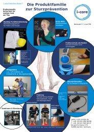 Produktfamilie Sturzprävention 1 Seite - I-Care