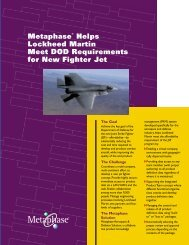 Metaphase Helps Lockheed Martin Meet DOD Requirements for ...