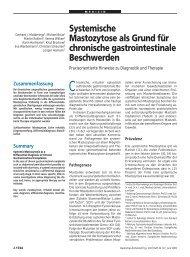 Systemische Mastozytose als Grund für chronische gastrointestinale ...