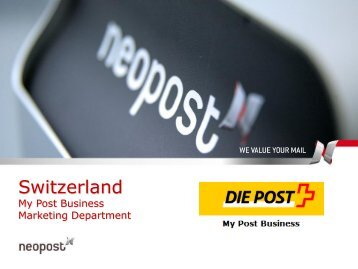 My Post Business Account verfügen, aber mit ... - Neopost
