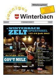 Mitteilungsblatt KW 26/2013 - Gemeinde Winterbach