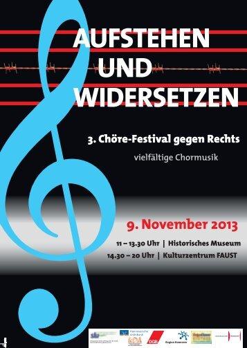 Chor-Festival Postkarte 2013.indd - Netzwerk Erinnerung und Zukunft