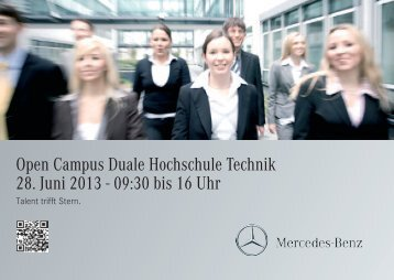 Azubi-Marketing, Postkarte, DIN A6, 2 Seiten, Querformat. 01 - Daimler