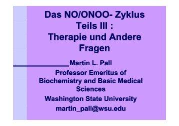 Nitrosativer Stress Berlin 2010/04: Martin L. Pall