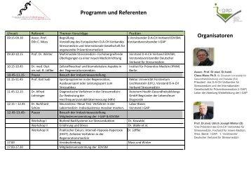 Programm und Referenten - Internationale Gesellschaft für ...