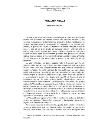 VITA ARTIFICIALE - I-LEX
