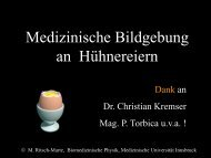 Hühnereier - Medizinische Universität Innsbruck