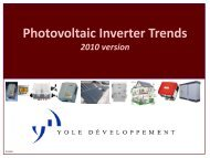 Photovoltaic Inverter Trends 2010 version - I-Micronews