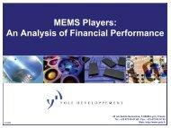 MEMS M&A database - I-Micronews