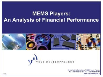 MEMS M&A database - I-Micronews