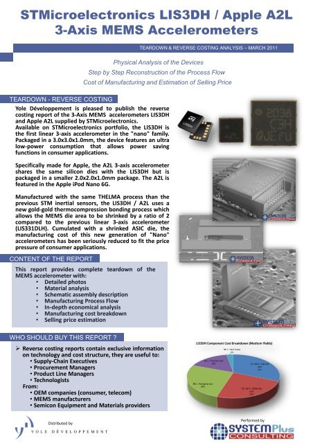 STMicroelectronics LIS3DH / Apple A2L 3-Axis MEMS     - I
