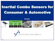 Inertial Combo Sensors in Consumer and Automotive - I-Micronews
