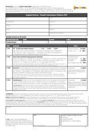 Auftrag PIP Artikeldaten - I-Shop-In-Shop