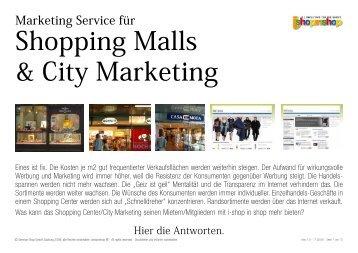 Shopping Malls & City Marketing - I-Shop-In-Shop