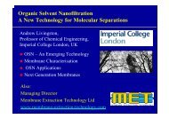 Organic Solvent Nanofiltration OSN - Innovation for Sustainable ...