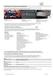 Handy-Adapter für - Audi