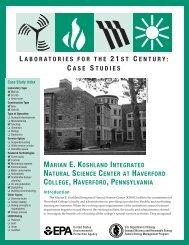 Marian E. Koshland Integrated Natural Science Center at ... - I2SL