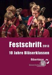 Festschrift Bläserklasse 01 - Bismarckschule Hannover