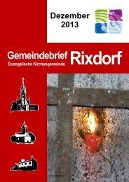 Dezember 2013 - Ev. Kirchengemeinde Rixdorf