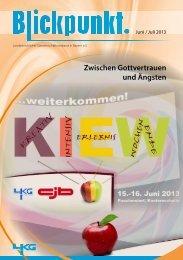 Blickpunkt Ausgabe Juni / Juli 2013 (PDF-Datei) - Landeskirchlicher ...