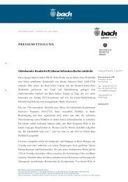 Unbekannte Handschrift Johann Sebastian Bachs entdeckt