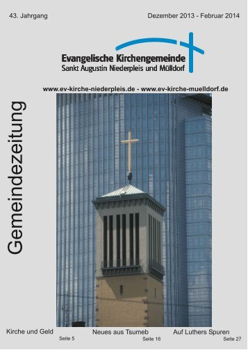 G emeindezeitung - Ev. Kirchengemeinde Sankt Augustin ...