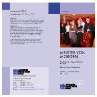 MEISTER VON MORGEN - Franz-Hitze-Haus