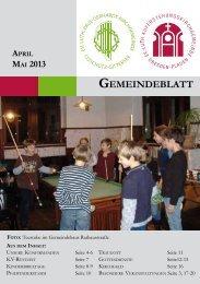 April/Mai - Auferstehungskirche Dresden-Plauen