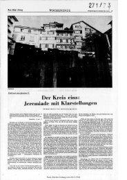 Der Kreis eins: Klarstellungen - Neue Zürcher Zeitung