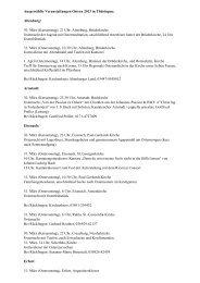 Veranstaltungen zur Osterzeit in Thüringen