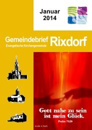 Januar 2014 - Ev. Kirchengemeinde Rixdorf