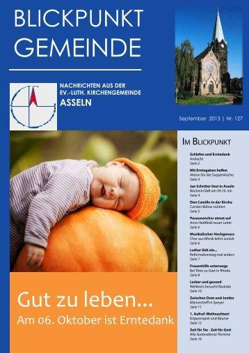"""""""Blickpunkt Gemeinde Nr. 127""""! - Kirchengemeinde Asseln"""