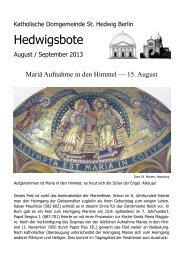 Hedwigsbote - St. Hedwigs-Kathedrale