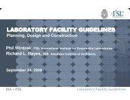 LABORATORY FACILITY GUIDELINES - I2SL