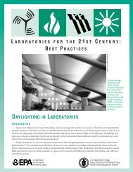 Daylighting in Laboratories; Laboratories for the 21st Century ... - I2SL