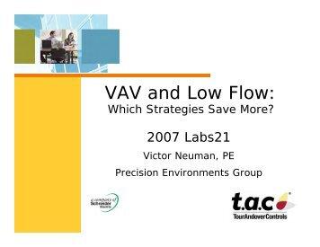 VAV and Low Flow: - I2SL