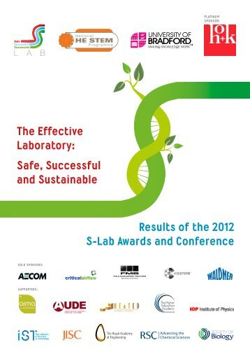 Results of the 2012 S-Lab Awards and Conference The Effective ...