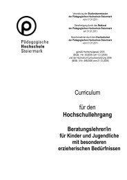 Curriculum für den Hochschullehrgang - PH-Online