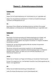 Thema 2 – Entwicklungspsychologie - Lehrstuhl für Psychologie IV