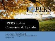 IPERS Status Overview & Update - Iowa Association of School Boards