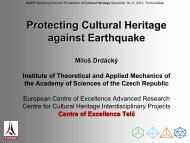 Protecting Cultural Heritage against Earthquake