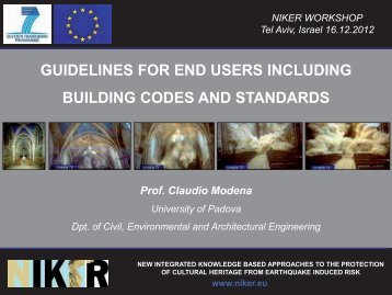 guidelines for end users including building codes and standards