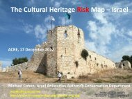 The Cultural Heritage Risk Map – Israel